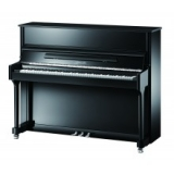 Ritmuller 118cm Traditional Upright piano in black New