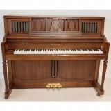 Samick 119cm traditional upright piano walnut c1997