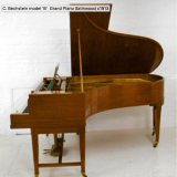 "C. Bechstein model ""B"" Grand Piano Satinwood c1913"