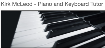Kirk McLeod - Piano & Keyboard Tutor