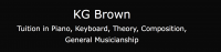 K G Brown Piano Keyboard Theory Composition