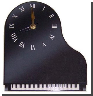Grand Piano Shape Clock Musical Gifts Uk Piano Page