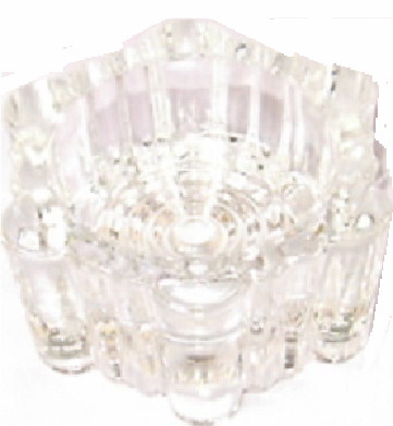 Piano Castor Cups In Glass 55mm Furniture Coasters Musical