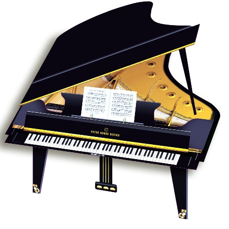3 D Grand Piano Greeting Card Musical Gifts Uk Piano Page