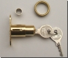 Cylinder Lock Brass Finish Complete with Two Keys