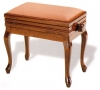 Adjustable Piano Stool with Storage Queen Anne legs