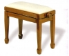 Adjustable Piano Stool Rise & Fall Height with empire style legs