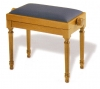 Adjustable Piano Stool Rise & Fall Height with Regency Legs