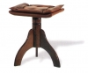 3 Legged Stool with Physiologic Buttoned Padded Seat Rise & Fall Height