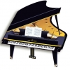 3 D Grand Piano Greeting Card
