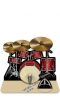 Cutout Drum kit 3D Greeting Card